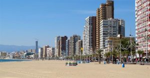Benidorm are Playa Poniente and Playa Levante 300x157 Walking in Benidorm
