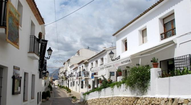 town. Exploring Altea Old Town